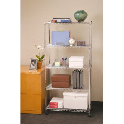 Seville Classics Five Shelf Home-Style Wire Shelving with Casters