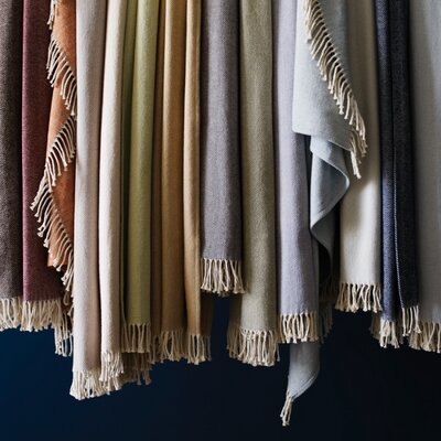 SFERRA Celine Brushed Cotton Throw