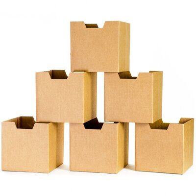 Sprout Cardboard Cubby Bins (Set of 3)