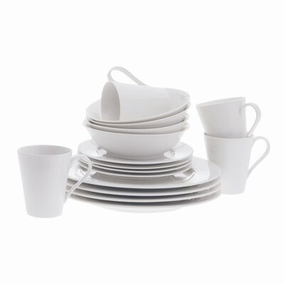Maxwell & Williams White Basics Cosmopolitan 16 Piece Dinnerware Set