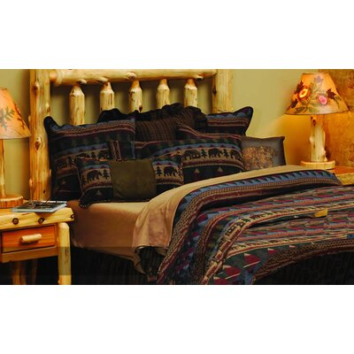 Wooded River Cabin Bear Basic 4 Piece Bedding Set