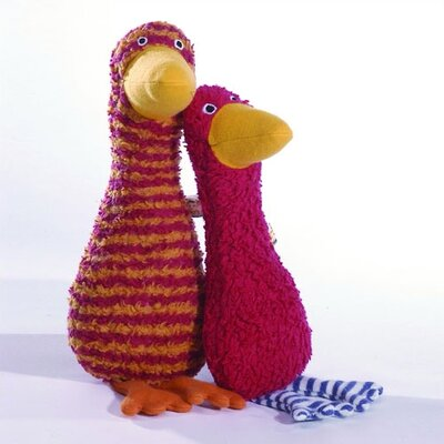 Challenge & Fun Lana Goose Organic Stuffed Animal in Tomato Red
