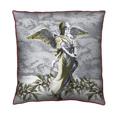Holiday Elegance Angel Silk Pillow