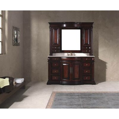 "James Martin Furniture Egwene 60"" Bathroom Vanity with Sink and Mirror"