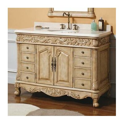 "James Martin Furniture Parchment 48"" Single Bathroom Vanity Set"