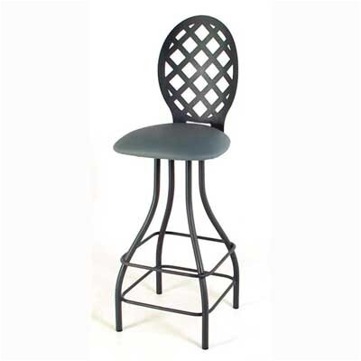 "Grace Collection Lattice Back 30"" Swivel Stool"