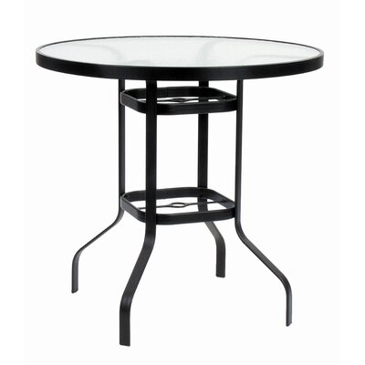 Suncoast KD Round Glass Bar Height Table with Hole
