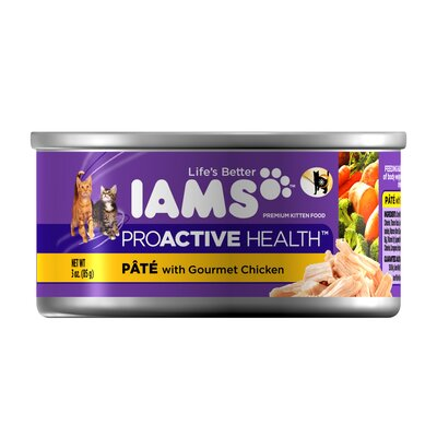 Iams ProActive Health Wet Cat Food with Gourmet Chicken (3-oz, case of 24)