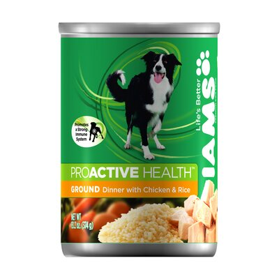 Iams ProActive Health Adult Wet Dog Food with Chicken and Rice (13.2-oz,case of 12)