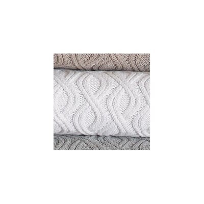 Peacock Alley Marbella Wavy Cable Cotton Throw