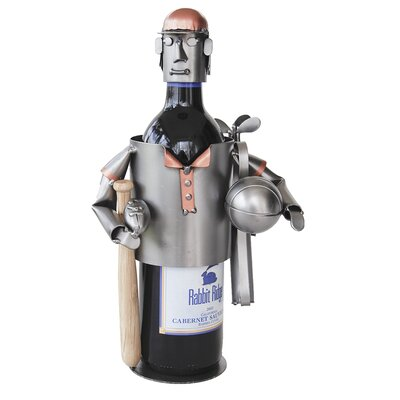 H &amp; K SCULPTURES Sports Fanatic Wine Caddy