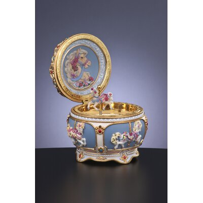 San Francisco Music Box Carousel Hinged Trinket Box