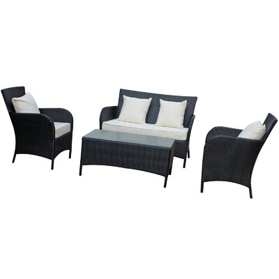 Modway 4 Piece Lounge Seating Group with Cushions