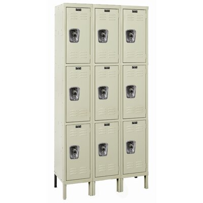 Hallowell ReadyBuilt Three Wide Triple Tier Locker  (Assembled)