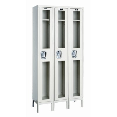 Hallowell Safety-View Stock Lockers - Single Tier - 3 Sections (Unassembled)