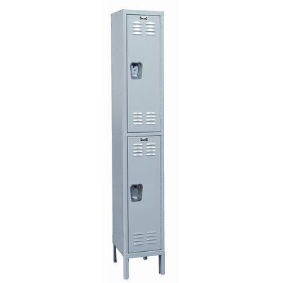 Hallowell MedSafe Locker Double Tier 1 Wide (Knock-Down)