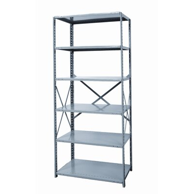 Hallowell Hi-Tech Shelving Heavy-Duty Open Type Starter Unit with 6 Shelves