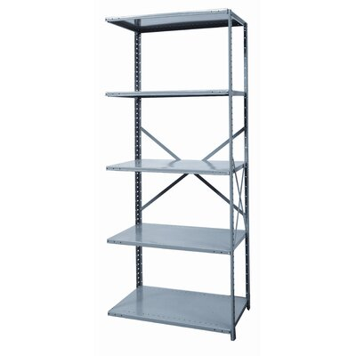Hallowell Hi-Tech Shelving Medium-Duty Open Type Add-on Unit with 5 Shelves