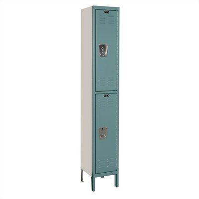 Hallowell Premium Stock Lockers - Double Tier - 1 Section (Unassembled)
