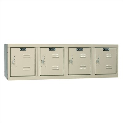 Hallowell Premium Stock Lockers - Four-Wide Wall Mount (Assembled)