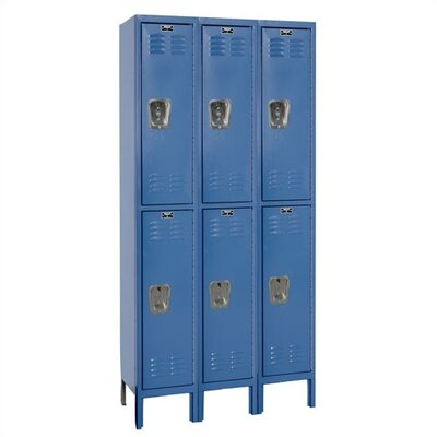 Hallowell Premium Stock Lockers - Double Tier - 3 Sections (Unassembled)