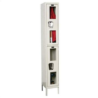 Hallowell Safety-View Stock Lockers - Double Tier - 1 Section (Unassembled)
