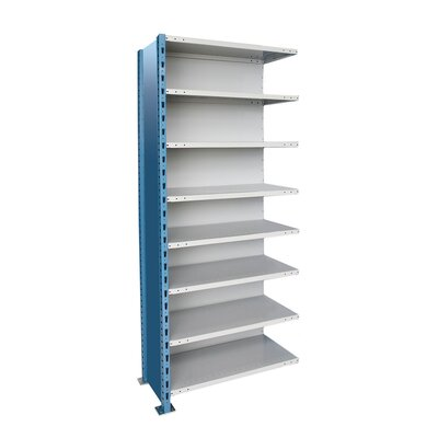 Hallowell H-Post High Capacity Shelving 8 Adjustable Shelves Add-on Unit Closed Style