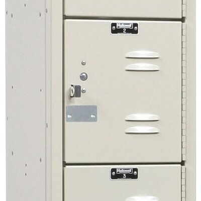 Hallowell Premium Stock Lockers - Six Tiers - 1 Section (Unassembled)
