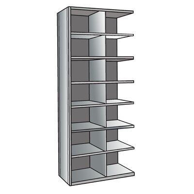 "Hallowell Hi-Tech Metal Bin Shelving Add-on Unit (14) 18"" W x 12"" H Bins"