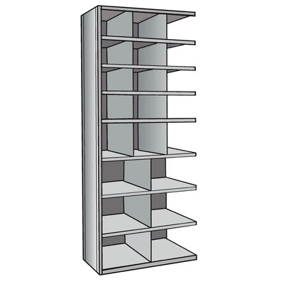 Hallowell Hi-Tech Metal Bin Shelving Add-on Unit (12) 12&quot; W x 9&quot; H, (3) 12&quot; W x 12&quot; H, (6) 18&quot; W x 12&quot; H Bins