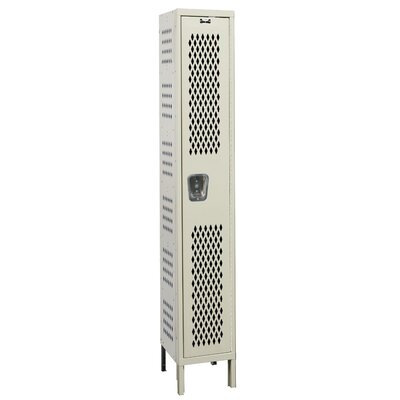 Hallowell Heavy-Duty Ventilated Locker Single Tier 1 Wide (Knock-Down)