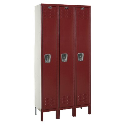 Hallowell Premium 3-Wide Single Tier Locker (Unassembled)