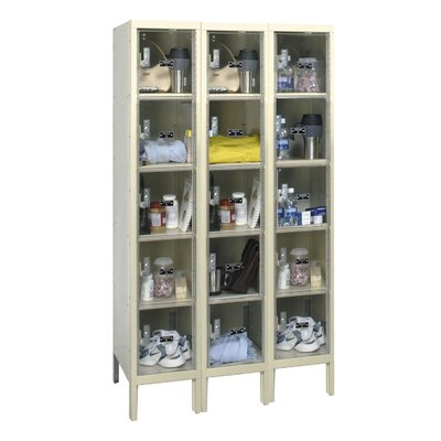 Hallowell Safety-View Plus Locker 5 Tier 3 Wide (Assembled)