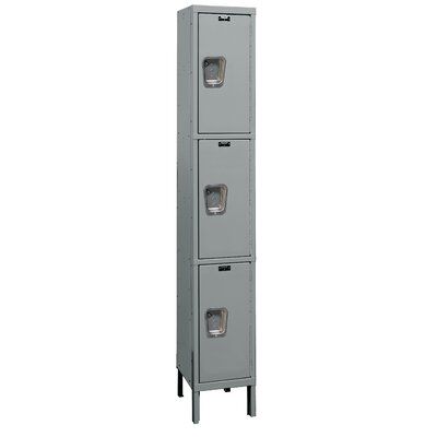 Hallowell Maintenance-Free Quiet Locker Triple Tier 1 Wide (Knock-Down)