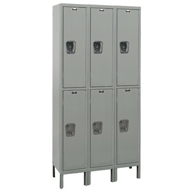 Hallowell Maintenance-Free Quiet Locker Double Tier 3 Wide (Knock-Down)