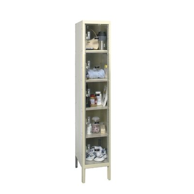 Hallowell Safety-View Plus Locker 5 Tier 1 Wide (Assembled)