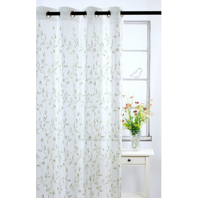 LJ Home Costello sheer ivory window panels with embroideries (set of 2)