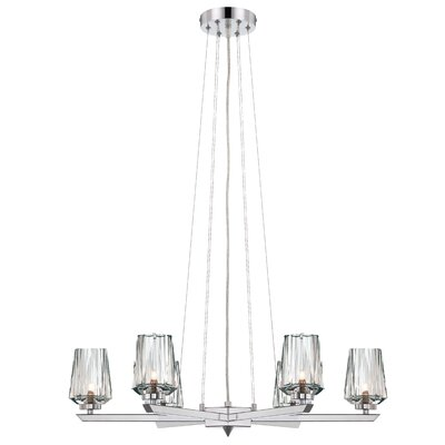 Alternating Current Ginsu 6-Lt Chandelier