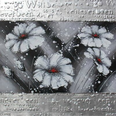 Casabianca Furniture White Flowers Framed Art