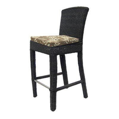Padmas Plantation Outdoor Bay Harbor Side Bar Stool in Bark