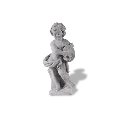 Amedeo Design ResinStone Cherub Painter Statue