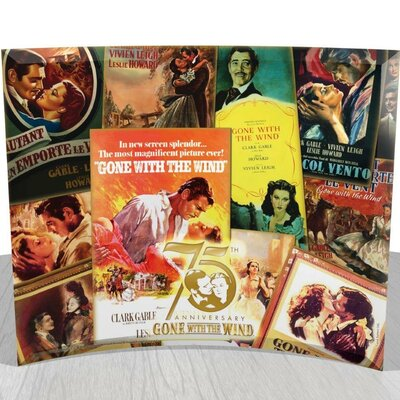 Trend Setters Gone with The Wind 75th Anniversary (Poster Collage) StarFire Prints Curved Glass Print