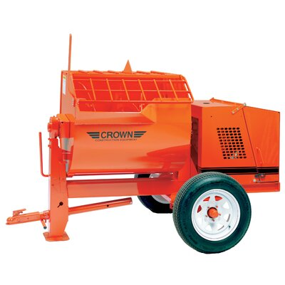 Crown Construction Equipment 12S-E5/1 - 12 cu ft Heavy-Duty Mortar Mixer w/ 5 HP 1 Phase Electric