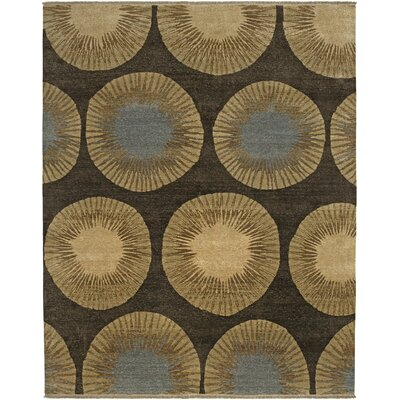 Enchi Design Chocolate, Hand-Knotted Rug