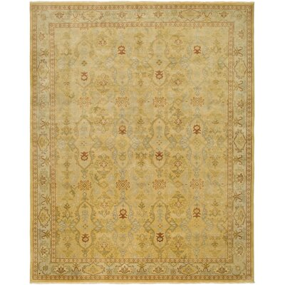 AMER Rugs Dinar Design Gold, Hand-Knotted Rug
