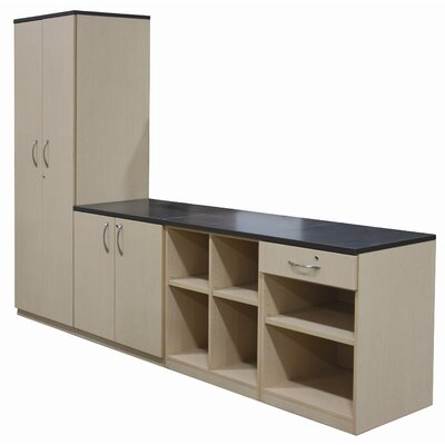WB Manufacturing Repositionable Replay Fixed Shelf / Three Adjustable Shelves Cabinet