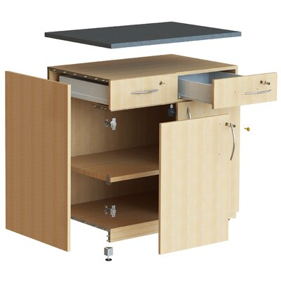 WB Manufacturing Repositionable Replay Two File Drawer Storage Unit