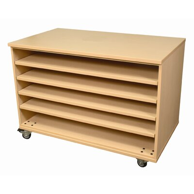 WB Manufacturing Paper Five Fixed Shelves Storage Unit