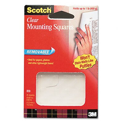 3M Scotch Mounting Squares, 35/Pack