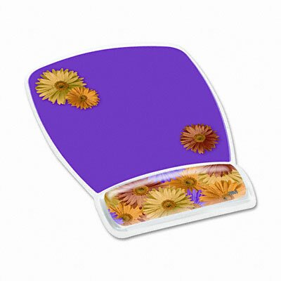 3M Gel Mouse Pad with Wrist Rest, Daisy Design